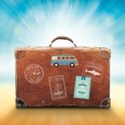 foto van een koffer tijdens zomervakantie